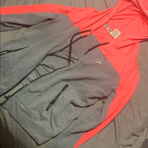 PINK Jackets & Blazers - PINK Victoria Secret Zip up hood jacket.
